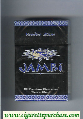 Jambi Voodoo Rum Exotic Blend cigarettes hard box
