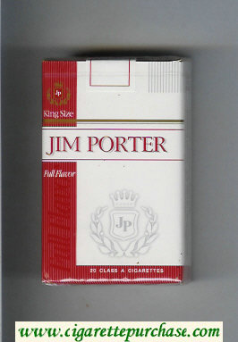 Jim Porter Full Flavor King Size cigarettes soft box