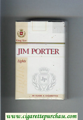 Jim Porter Lights King Size cigarettes soft box