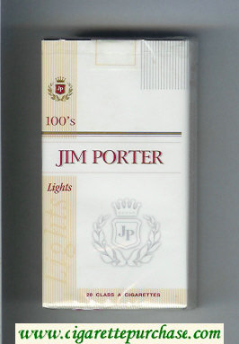 Jim Porter Lights 100s cigarettes soft box