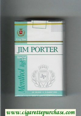 Jim Porter Menthol Lights King Size cigarettes soft box
