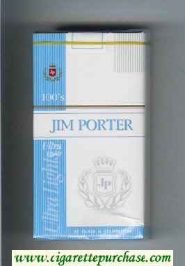 Jim Porter Ultra Lights 100s cigarettes soft box