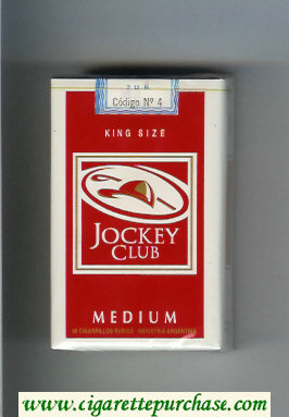 Discount Jockey Club Medium King Size red and white cigarettes soft box