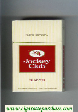 Jockey Club Suaves Filtro Especial yellow and red cigarettes hard box