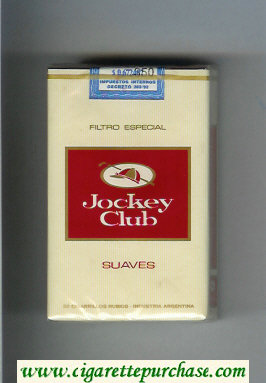 Jockey Club Suaves Filtro Especial yellow and red cigarettes soft box