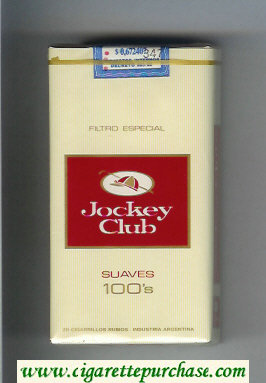 Jockey Club Suaves 100s Filtro Especial yellow and red cigarettes soft box