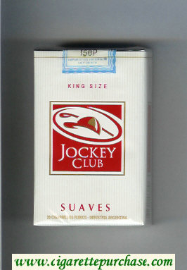 Discount Jockey Club Suaves King Size white and red cigarettes soft box