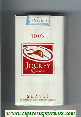 Discount Jockey Club Suaves 100s white and red cigarettes soft box