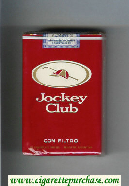 Discount Jockey Club Con Filtro red and white cigarettes soft box