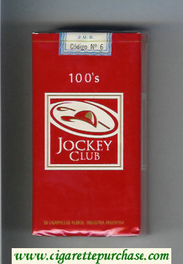 Discount Jockey Club 100s cigarettes red and white soft box