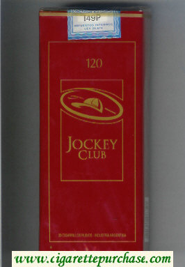 Discount Jockey Club 120s dark red cigarettes soft box