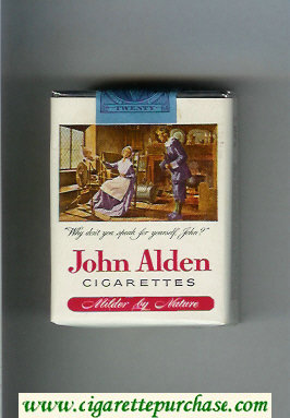 John Alden cigarettes soft box