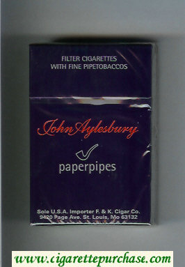 Discount John Aylesbury Paperpipes cigarettes hard box