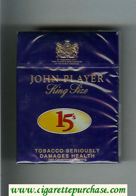 Discount John Player King Size 15s cigarettes hard box