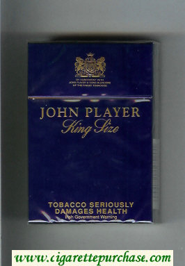 Discount John Player King Size cigarettes hard box