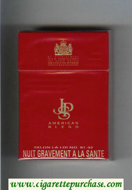 Discount John Player Special American Blend red white cigarettes hard box