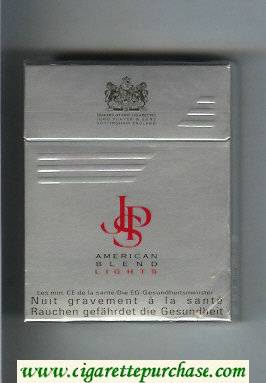 Discount John Player Special American Blend Lights grey red 25s cigarettes hard box