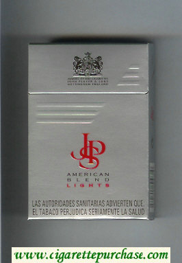 Discount John Player Special American Blend Lights grey red cigarettes hard box