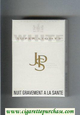 Discount John Player Special White Super Lights white cigarettes hard box