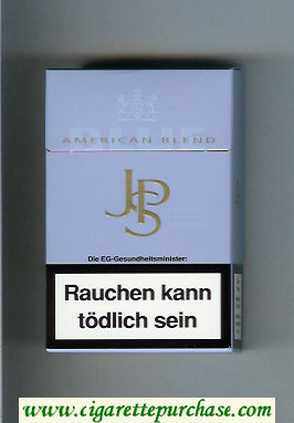Discount John Player Special Blue American Blend light blue cigarettes hard box