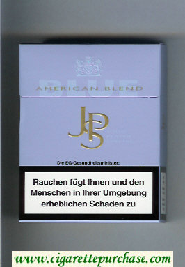 John Player Special Blue American Blend light blue 24s cigarettes hard box