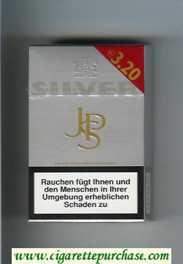 John Player Special Silver American Blend silver 19s cigarettes hard box