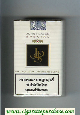 Discount John Player Special Full Flavor American Blend white and black cigarettes soft box