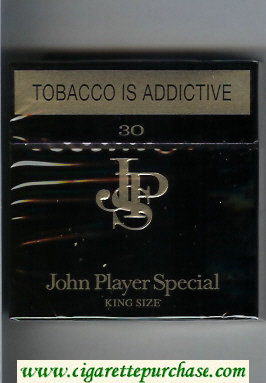 Discount John Player Special King Size black 30 cigarettes hard box
