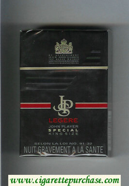 Discount John Player Special Legere black cigarettes hard box