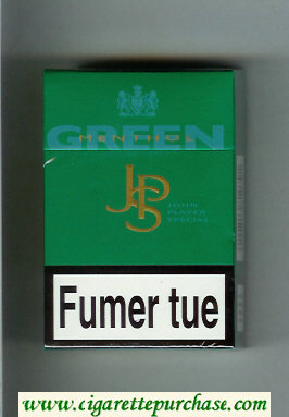 Discount John Player Special Green Menthol green cigarettes hard box