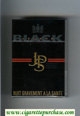 Discount John Player Special Black Legere black cigarettes hard box