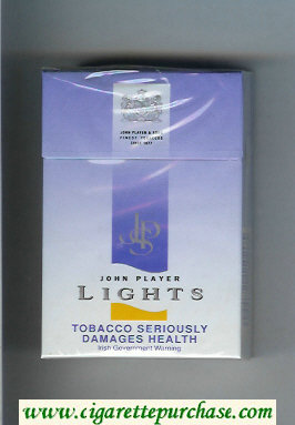 John Player Special Lights blue cigarettes hard box