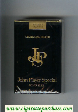 Discount John Player Special King Size Charcoal Filter Black cigarettes soft box
