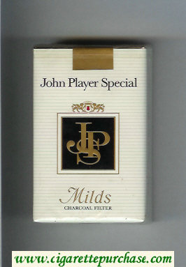 Discount John Player Special Milds Charcoal Filter white and black cigarettes soft box