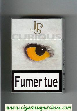 John Player Special Curious light grey cigarettes hard box