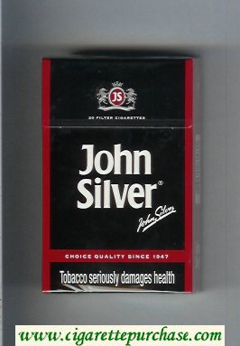 Discount John Silver black cigarettes hard box