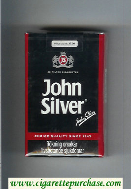 Discount John Silver black cigarettes soft box