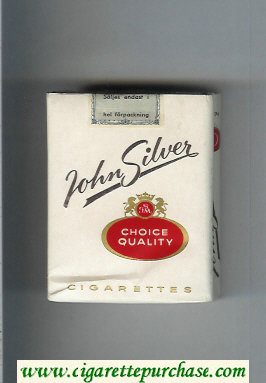 John Silver white cigarettes soft box