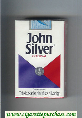 John Silver Original white and blue and red cigarettes soft box