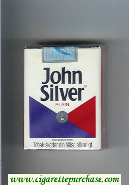 Discount John Silver Plain white and blue and red cigarettes soft box