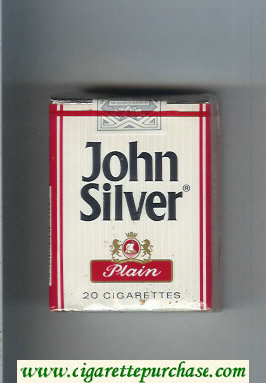 Discount John Silver Plain white and red cigarettes soft box