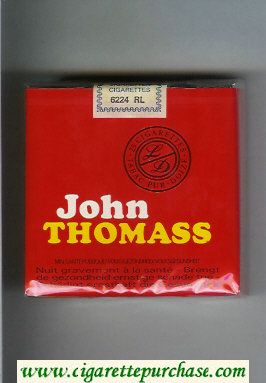 Discount John Thomass red 25s cigarettes soft box