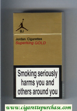 Jordan Cigarettes Superking GOLD cigarettes hard box