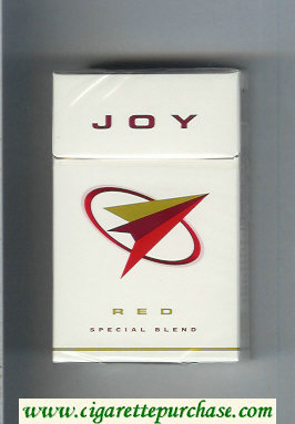 Joy Red Special Blend white and red cigarettes hard box