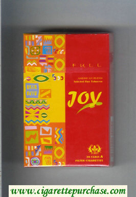 Joy Full American Blend cigarettes hard box