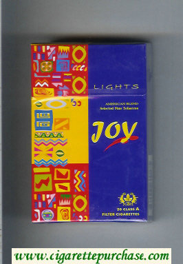Joy Lights American Blend cigarettes hard box