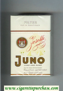 Juno Joseffi Land und Rund Filter white cigarettes hard box
