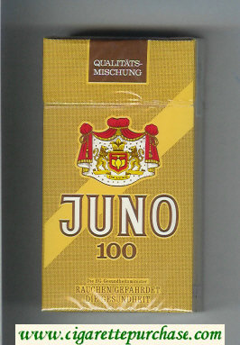 Juno 100 brown cigarettes hard box