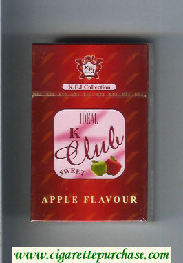 K Club Ideal Sweet Apple Flavour cigarettes hard box