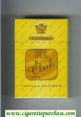 K Club Ideal Sweet Vanilla Flavour cigarettes hard box